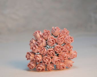 10 pieces mini pale pink rosebud paper flowers pink paper etsy 10 pieces mini blush pink rosebud paper flowers pink paper flowers mulberry flowers tiny paper flowers scrapbooking craft supplies mightylinksfo