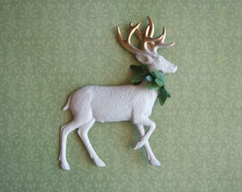 metal reindeer ornament white deer ornament gold deer ornament christmas ornament christmas deer reindeer