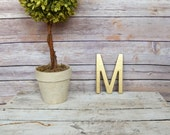 Cast Iron Metal Letter wall art decor vintage style You Pick Alphabet Initial Monogram Painted Gold