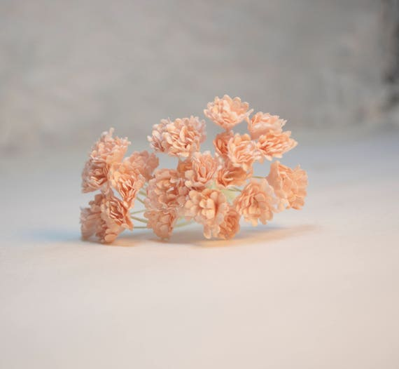 10 pieces mini pale peach paper flowers peach paper flowers etsy image 0 mightylinksfo