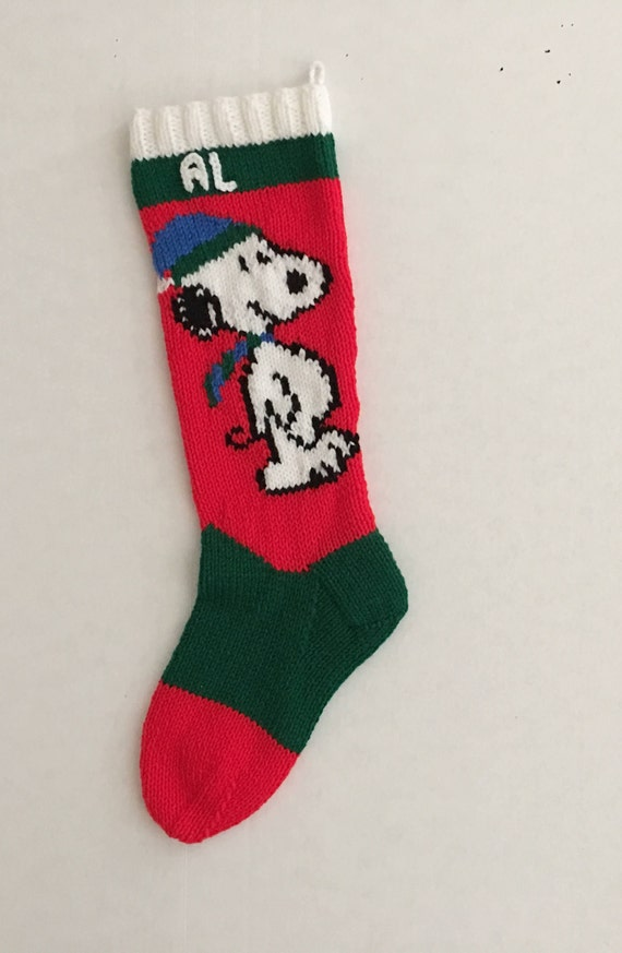Personalized Knitted Christmas Snoopy Alone  a302d6b0b9150