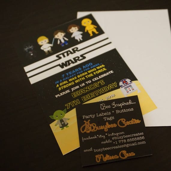 Star Wars Birthday Card Party Favours Star Wars Theme Printables