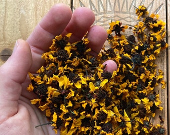 Natural Dye, Coreopsis Flowers, 1/4 oz. Dried Flowers for Dyeing, Natural Dye Supply, Craft Supply, Homegrown Dye Supply