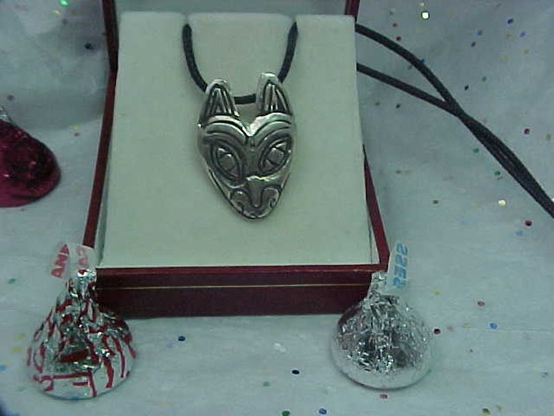 CAT North West Indian Style pendant sterling silver Custom Design Unique Authentic tribal design