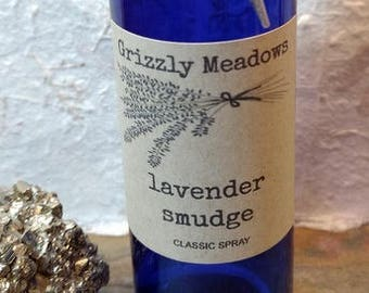 LAVENDER SMUDGE SPRAY - Energy Clearing Mist - Smoke-Free Alternative to Traditional Smudging - Clear Negative Energy From Home, Office