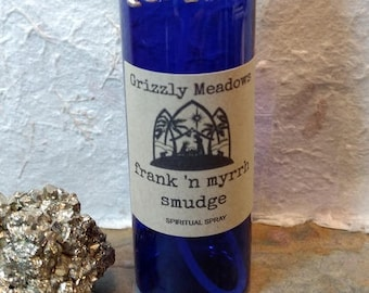 FRANKINCENSE & MYRRH SMUDGE Spray - Energy Clearing Mist - Smoke-Free Alternative Smudging - Clear Negative Energy From Home, Office