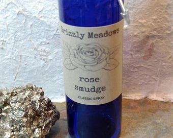 ROSE SMUDGE SPRAY - Energy Clearing Mist - Smoke-Free Alternative to Traditional Smudging - Clear Negative Energy From Home, Office