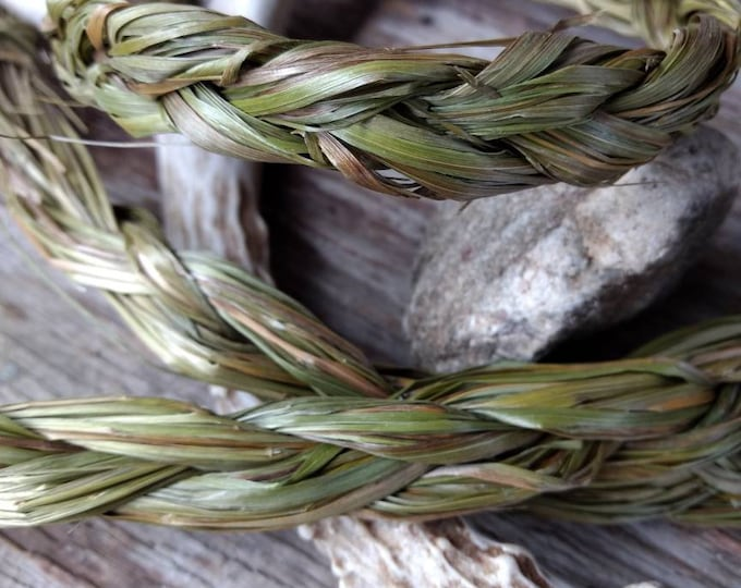 SWEETGRASS Braid MONTANA Grown Pesticide Free Clear Negativity From Your Home & Spaces