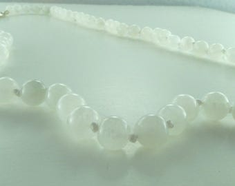 Moonstone (White) Chakra Necklace All Natural Semi-Precious Stones Healing Metaphysical