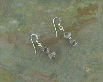BOTSWANA AGATE Gemstone Earrings Sterling Silver Natural Stone