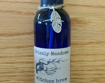 WITCHES BREW SMUDGE Spray (Spicy)- Energy Clearing Mist - Smoke-Free Alternative to Traditional Smudging - Clear Negative Energy