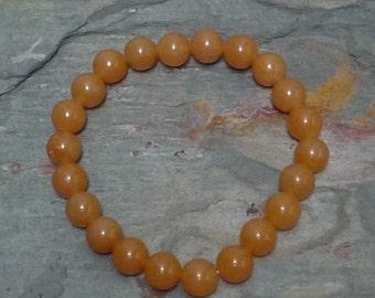 PEACH AVENTURINE Chakra Stretch Bracelet All Natural Semi-Precious Stones Healing Metaphysical