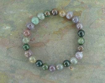 FANCY JASPER Chakra Stretch Bracelet All Natural Semi-Precious Stones Healing Metaphysical