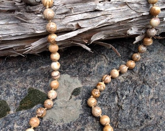 PICTURE JASPER Chakra Necklace All Natural Semi-Precious Stones Healing Metaphysical