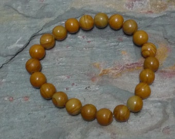 LANDSCAPE JASPER Chakra Stretch Bracelet All Natural Semi-Precious Stones Healing Metaphysical