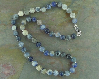 SODALITE Chakra Necklace All Natural Semi-Precious Stones Healing Metaphysical
