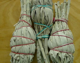 Smudge: Fresh White Sage Torch Trio Clear Negativity From Your Home & Spaces