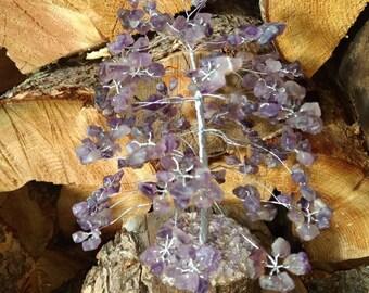 AMETHYST Gemstone Tree Handmade Natural Semi-Precious Stones Healing Metaphysical