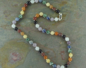 CHAKRA Necklace All Natural Semi-Precious Stones Healing Metaphysical