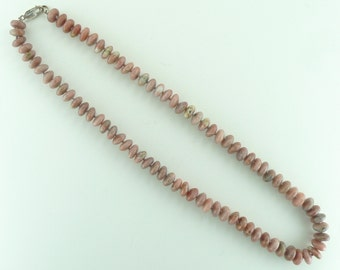 Pink Lepidolite Natural Gemstone Sterling Silver Necklace