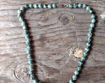 TREE AGATE Chakra Necklace All Natural Semi-Precious Stones Healing Metaphysical