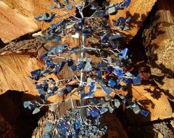 LAPIS LAZULI Gemstone Tree Handmade Natural Semi-Precious Stones Healing Metaphysical