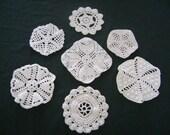"Vintage Doilies Lot 7  Swedish Made Hand  Crochet 5-6"""