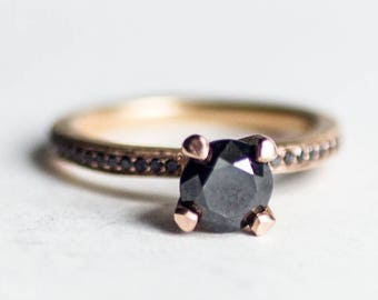 IMPERATRIX -Rustic Diamond Ring  Engagement Ring Ethical Recycled Metal Conflict Free