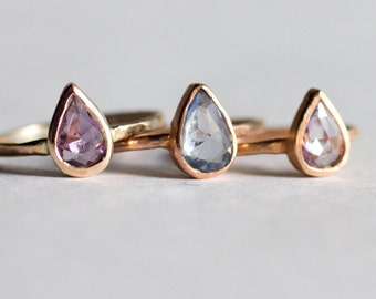 Build Your Own Rosecut Sapphire Shaped Handmade engagement