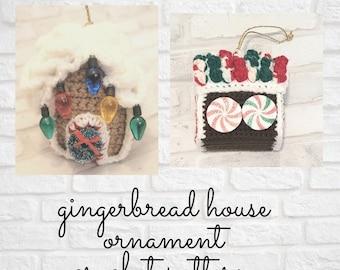 Crochet Pattern, Christmas Pattern, Gingerbread House, Mom Christmas Gift