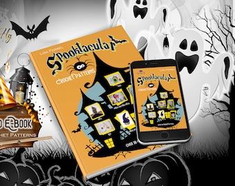 Crochet Pattern Book, Spooktacular Crochet Patterns Ebook, Over 30 Halloween Patterns in PDF Format