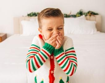 Christmas Crochet Pattern, Elf Christmas Sweater Crochet Pattern, Christmas Gift