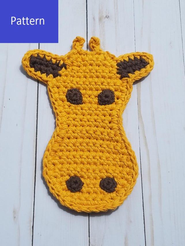 Giraffe Topflappen Häkeln Muster Notiz Karte Giraffe Etsy
