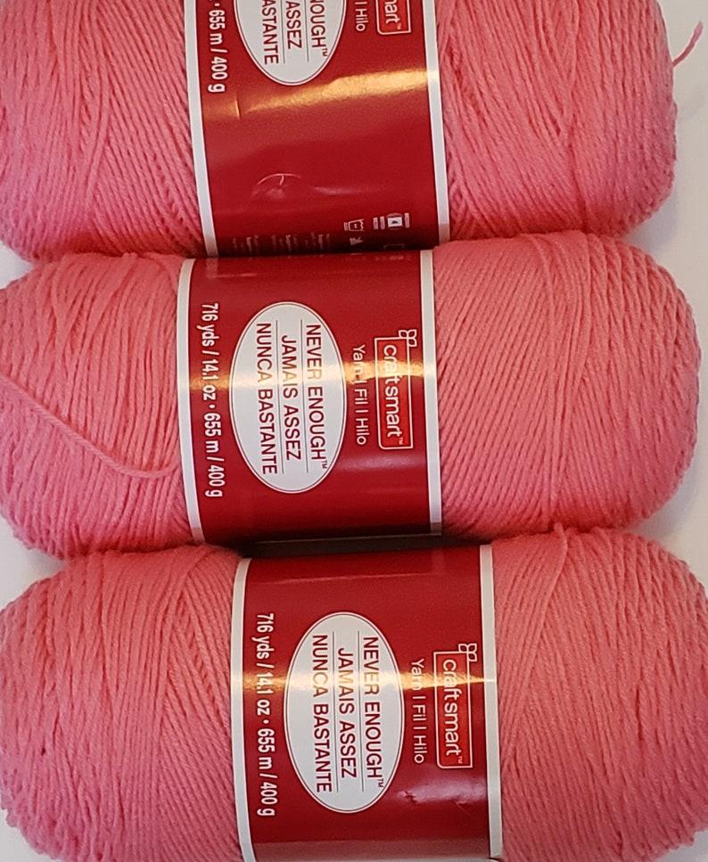 Craftsmart Never Enough Yarn, Pink - 4 skeins available