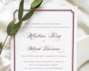 Burgundy Wedding Invitations, Marsala Wedding Invitations, Marsala Invitations, Marsala Save the Dates, Table Numbers, Programs, Menus