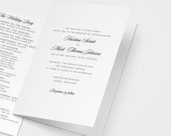 Catholic wedding programs | Etsy