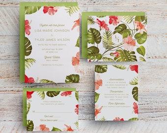 tropical wedding invitations hawaii wedding invitations