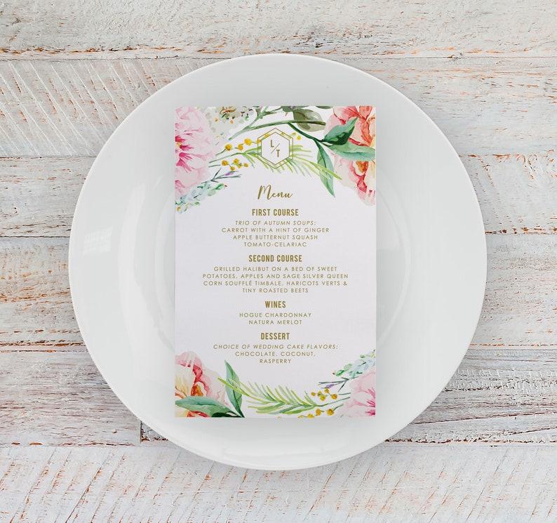 boho wedding menu boho menu bohemian menu bohemian wedding image 0