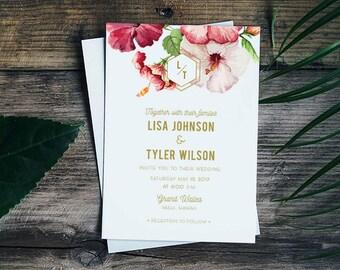 Beach Wedding Invitations, Tropical Wedding Invitations, Hawaii Wedding Invitations, Maui Wedding Invitation, Destination Wedding