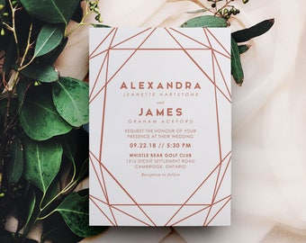 rose gold wedding invites, rose gold foil invitations, rose gold foil stamped invitations, rose gold save the dates, quinceanera invitations