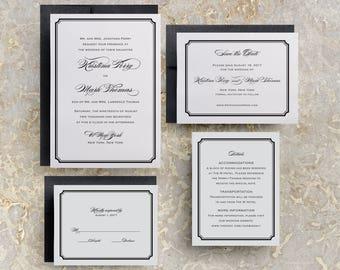 Simple Wedding Invitations, Simple Wedding Invitations Templates, Elegant Wedding Invitations, Modern Script Wedding Invitations