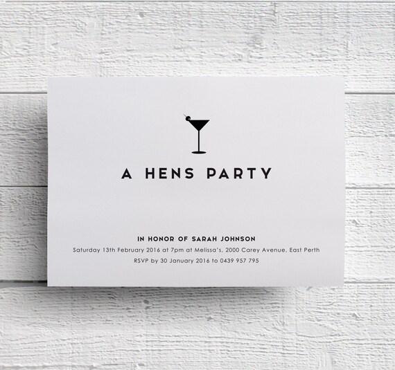 Hennen Partei Einladung Junggesellinnenabschied Party   Etsy