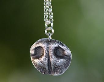Pet Nose Impression In Fine Silver (small)