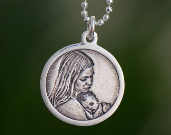 Custom Engraved Circular Photo Charm