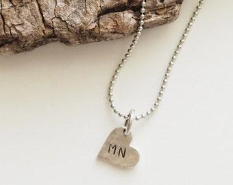 Minnesota, Stamped Minnesota Necklace, Minnesota Jewelry, State Jewelry, Minnesota Charm, MN, Heart Charm