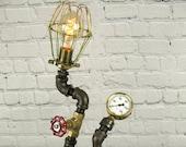 Bronze Tone designer pipe lamp 1 An Original Steamworks Design
