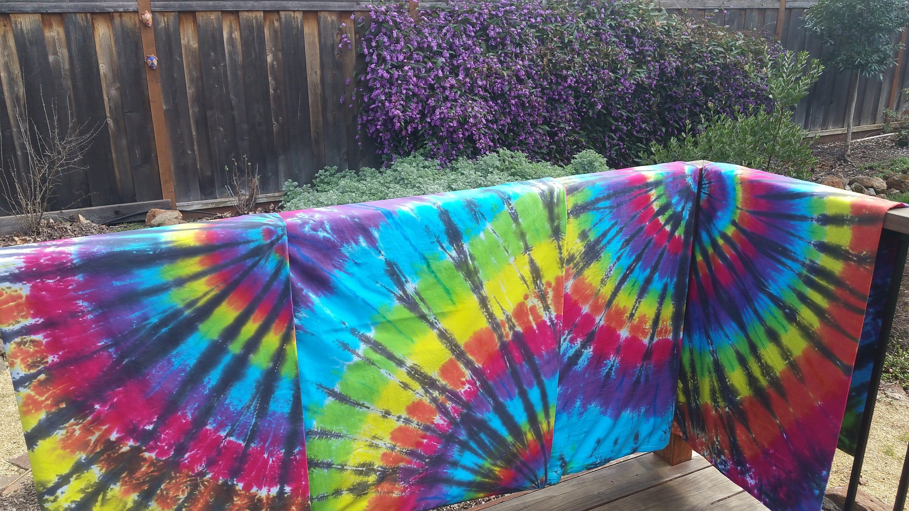 Custom twin bedding, Twin duvet set, Rainbow spiral, Hippie bedding, Tie Dye sheets, gift for child, student bedding, home decor
