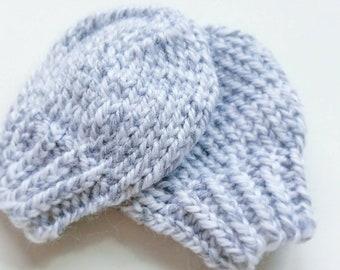 Newborn No-Scratch Knit Baby Boy Mittens   0-6 months Baby shower gift   Gender Neutral Necessities Accessories Ribbed Cuff Washable