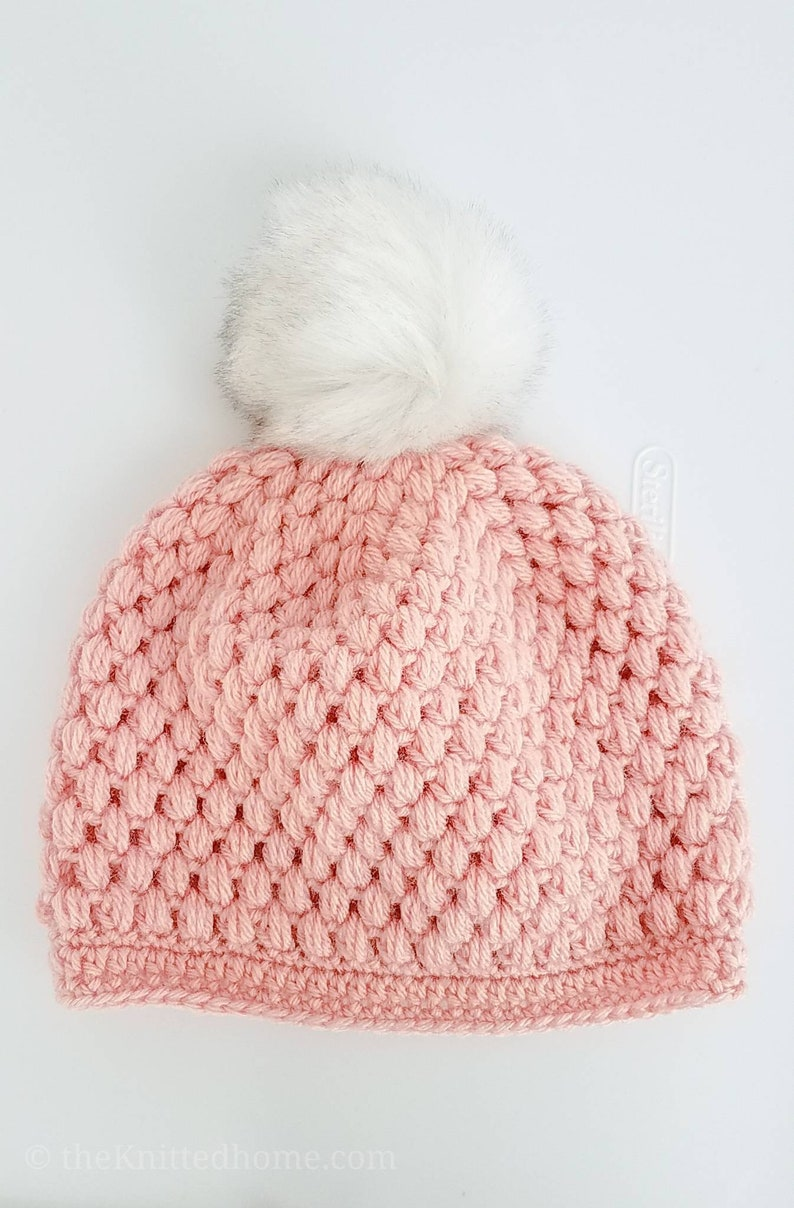 42f5bad0647 Blush Pink Crochet Textured Beanie Hat One Size Fits Most