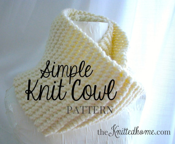 Instant Download Pattern For Simple Knit Cowl Beginner Etsy